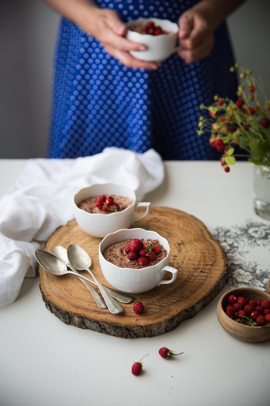 csokoládékrém erdei szamócával az Emlékek Íze konyhájából www.emlekekize.hu